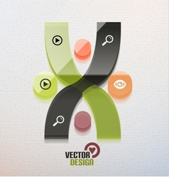 3d glass shape for business template vector