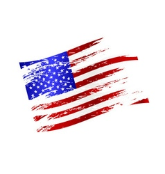 Color american national flag grunge style eps10 vector