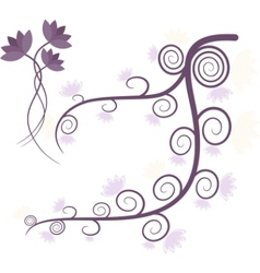 Purple tree vector