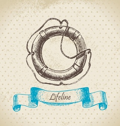 Lifeline hand drawn vector