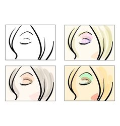 Make up patterns vector