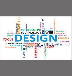 Word cloud design vector