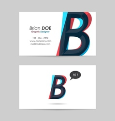 Business card template - letter b vector