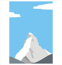 Mount matterhorn in the alps vector