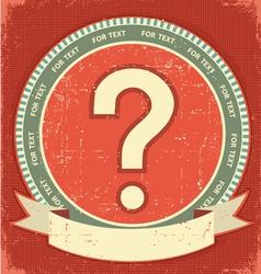 Question mark label vector