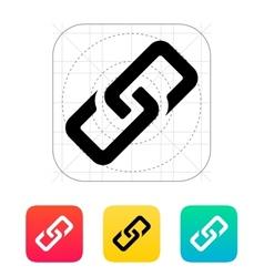 Link icon vector