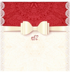 Vintage wedding card template vector