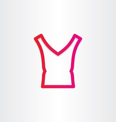 Female blouse icon design vector