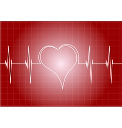Heart diagram with line heart vector
