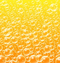 Colorful yellow water bubbles background vector