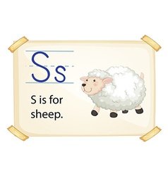 A letter s for sheep vector