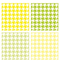 Tile houndstooth pattern green wallpaper set vector