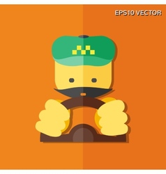 Taxi driver flat icon vector