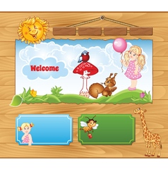 Background for kid website vector
