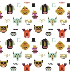Trick or treat seamless pattern vector