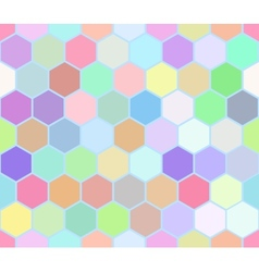 Hexahedron colorful seamless pattern vector