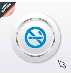 No smoking sign icon cigarette symbol vector