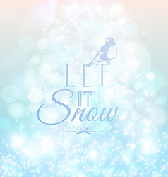 Abstract blurred lights and snow background vector