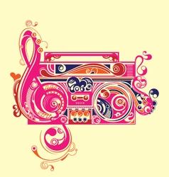 Abstract radio tape decorative elements vector