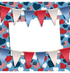 Usa greeting card vector