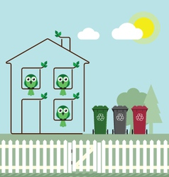 Eco green house vector