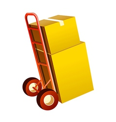 Icon cart and boxes vector