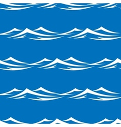Waves seamless vector