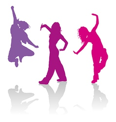 Girls dancing jazz-funk dance vector
