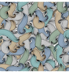 Abstract seamless pattern waves vector