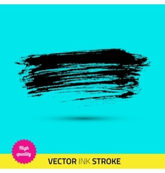 Paint brush ink stroke paint splash vector