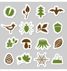 Forest stickers vector