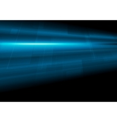 Dark blue tech motion abstract background vector