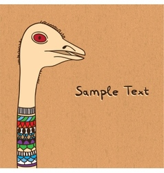 Ostrich on canvas vector