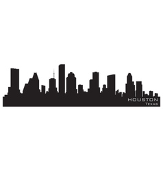 Houston texas skyline detailed silhouette vector