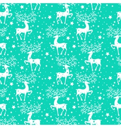 Deer seamless pattern vector