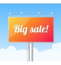Billboard on blue sky big sale concept vector