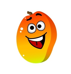 Cartoon mango fruit character vector