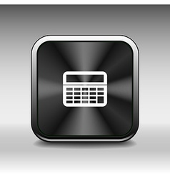 Calculator icon website isolated displa mathematic vector