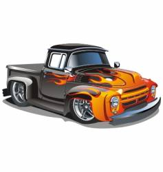 Retro hotrod vector