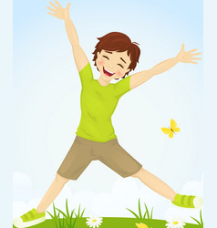 Jumping boy vector