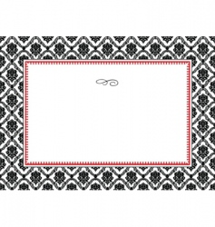Floral pattern and frame vector