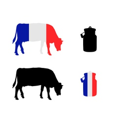 French milk cow vector
