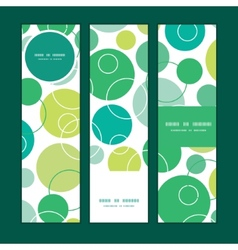 Abstract green circles vertical banners set vector