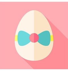 Easter egg with bow-knot vector