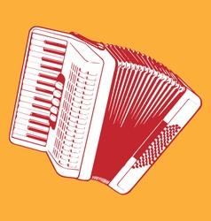 Retro accordion vector