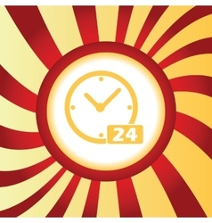 24 workhours abstract icon vector