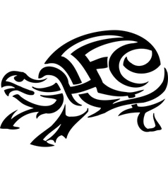 Turtle in tribal style - vector