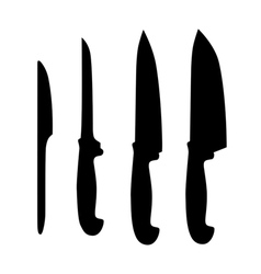 Set of table knifes vector