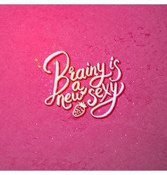 Artistic brainy is a new sexy concept on pink vector