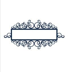 Vintage frame scroll vector